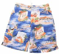 POLO RALPH LAUREN Boys Hawaiian Shorts 13-14 Years W30 Cotton  AE05