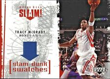 TRACY McGRADY 2005 UD SLAM SLAM DUNK SWATCHES GAME USED BLACK JERSEY