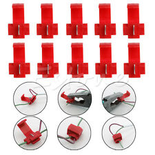 50 x Red Electrical Cable Connectors Fast Quick Splice Lock Wire Terminals Crimp