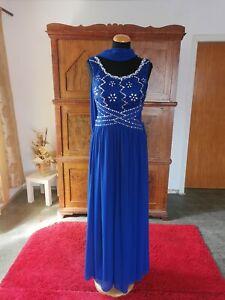 Abendkleid  Hochzeit lang neu gr 36 bis 38 blau Chiffon aus Brautmodengeschäft