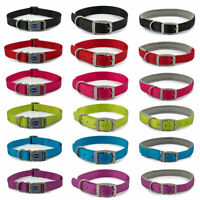 Ancol Viva Dog Puppy Nylon Collars Quick Fit Buckle Neoprene Padded 6 Colours