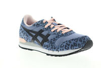 Onitsuka Tiger Alvarado D7J7L-4690 Womens Blue Suede Low Top Sneakers Shoes