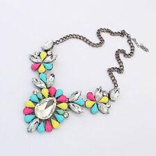 Modeschmuck-Halsketten aus Kristall und Metalllegierung