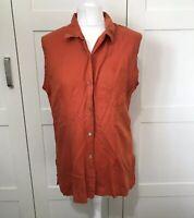 Vintage Laura Ashley Orange Shirt Size 16