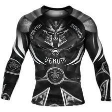 Venum Gladiator 3.0 Long Sleeve Mma Rashguard - Black/White