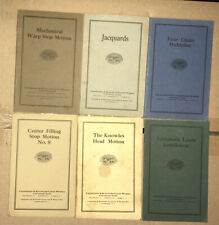 Worcester Ma - Crompton & Knowles Instruction Manuals Lot Of 6 Booklets