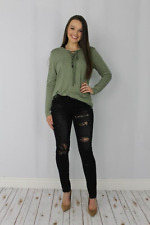 L&B Lucky and Blessed BlackDistressed Jeans with Lace Inserts Sizes 4-14