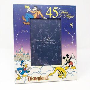 Disneyland 45th Anniversary Characters Photo Picture Frame Mickey Goofy Disney
