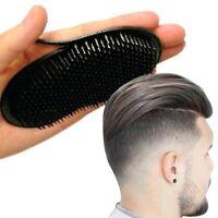 Portable Black Round Plastic Fingers Hair Comb Beard Palm Travel Scalp Massage