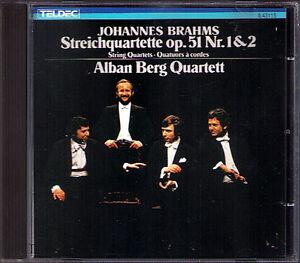 ALBAN BERG QUARTETT: BRAHMS String Quartet No.1 2 Op.51 CD Streichquartett