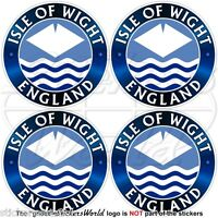 """ISLE of WIGHT-ENGLAND UK County Flag, British 50mm (2"""") Vinyl Stickers Decals x4"""