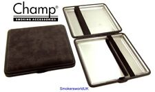 Cigarette Case -- Champ Canvas Charcoal 20 King Size -- NEW chks34
