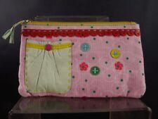 97eef57033e3a Taj Wood Scherer Geldbeutel kleine Tasche Beutel rosa mit blau Tasche  1901-195