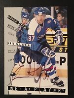 1995 Eric Desjardins Auto Be A Player Autograph Upper Deck