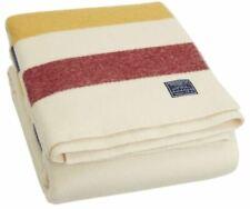 Faribault Woolen Mill Co. Revival Stripe Wool Blanket - Bone Multi (Twin Size)