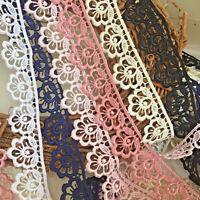 "~Bows Ribbon and Lace~Pretty 1.25""/3cm Flower Edge Satin Guipure Lace Trim"