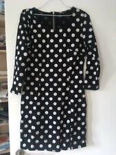 H&M black & white spotted dress UK 16