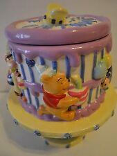 Disney Winnie The Pooh Happy Birthday Cake Pedesta Cookie Jar FTD Inc. Ceramic