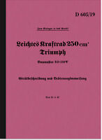 Triumph BD 250 W Bedienungsanleitung Betriebsanleitung D 605/19 Beschreibung