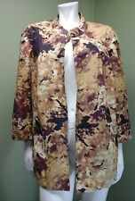 Coldwater Creek Classic Open Front Multi-Colored Jacket~Size 2X