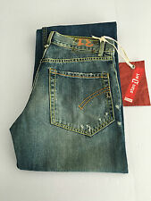 DONDUP jeans uomo mod SCREEN gamba larga fondo largo cm 23 MADE IN ITALY tg 31