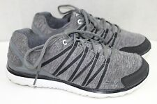 FILA womens athletic shoes size 7 m fabric upper air flow gray and black great c