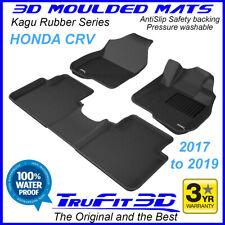 Fits Honda CR-V CRV 2017 to 2020 Genuine 3D BLACK Rubber Car Floor Mats F&R