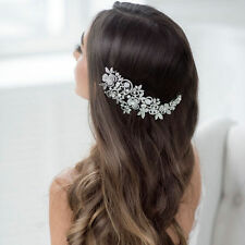 Tiara Rhinestone Wedding accessories Headpiece Headband Flower Hair comb clip