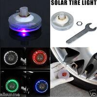 Car Vehicle Auto Solar Energy Cool Flash Wheel Tire Led Light Lamp Decoration UK