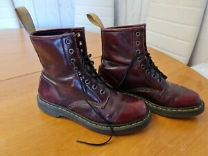 Dr Martens Leather Boots Ox Blood Red Size UK 7 Air Wair Doc Martins 14585