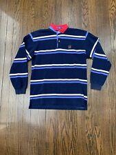 Tommy Hilfiger Long Sleeve Polo Shirt Season 2003 Men's XL Blue