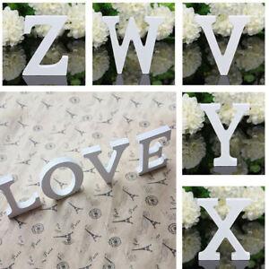 8cm White Wooden Alphabet Number Decoration Letters Photography Props Decoration