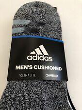New Mens Adidas Climalite Dri Compression 3 Pack Sport Quarter Cut Socks Mixed