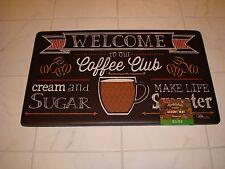 Anti Fatigue Foam Comfort Kitchen Floor Mat Rug 18x30 Coffee Club CREAM & SUGAR