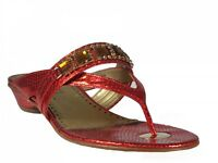 25c157aa0fd43 Barachini 15212 Women Italian Dressy With Crystals Flat Sandals