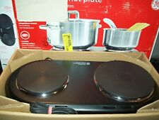 GE Double Burner Hot Plate Electric Buffet Range Portable Stove Adjustable Temp