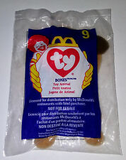 TY McDonald's Teenie Beanie Baby BONES THE DOG #9 1998 Series NEW IN PACKAGE