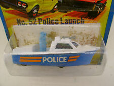 1975 MATCHBOX LESNEY SUPERFAST #52 POLICE LAUNCH NEW ON DAMAGED CARD