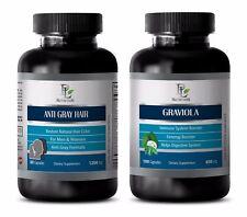 Parasite drops for health - ANTI GRAY HAIR - GRAVIOLA COMBO- coenzyme gummies