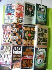 Lot of 12 Vintage ESPIONAGE THRILLERS Pb Novels–JACK HIGGINS, Craig Thomas, Etc.