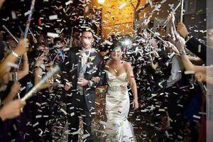 Confetti Sticks Flutter fetti White Tissue Confetti Paper  14inch-20 pcs