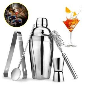 5Pcs Cocktail Maker Set Shaker Mixer Stainless Steel Bartender Kit Drink Making