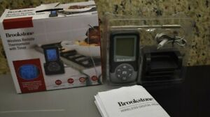 Brookstone's Wireless Cooking Thermometer remotely transmits data from the base