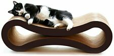 "Reversible Curved-Shaped Ultimate Cat Scratcher Lounge (34"" x 10.5"" x 10.5"")"