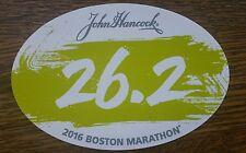 2016 Official Boston Marathon 26.2 Car Bumper Euro Sticker Decal