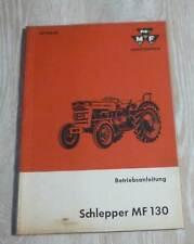 Massey Ferguson Schlepper MF 130 Betriebsanleitung