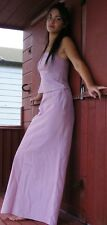 STUNNING 2 PC EVENING DUSKY PINK DRESS WITH BEAD DETAIL 8/10 WEDDING BALL PROM