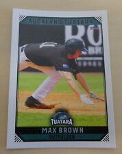 Max Brown 2018/19 Australian Baseball League card - Auckland Tuatara