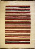 Rugstc 4x6  Gabbeh Multicolored Area Rug,Genuine Hand-Knotted, Wool Pile