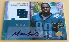 2006 Upper Deck Football Marcedes Lewis Jersey Patch & Autograph Card 161/350